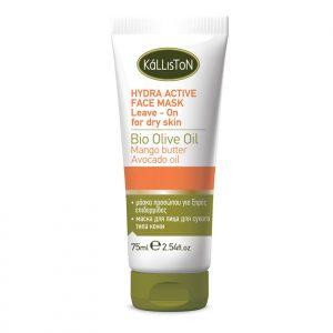 kálliston natúr hidratáló arcmaszk olívaolajjal száraz bőrre