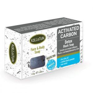 kálliston natúr bőrtisztító fekete szappan aktív szénnel